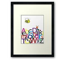 Children's Wall Art ABC Framed Print