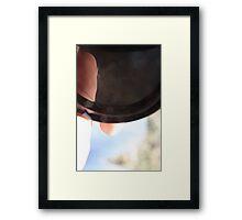 Camera Cap Framed Print