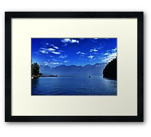 Leaving the harbour Framed Print