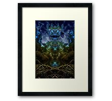 Open the door to fantasy and breathe deeply of the mystery Framed Print