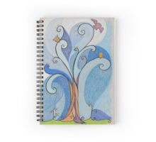 Whimsical Marshmallow Owl Tree Spiral Notebook