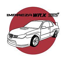 Subaru WRX Impreza STI JDM Decal by harrison44