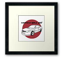 Subaru WRX Impreza STI JDM Decal Framed Print