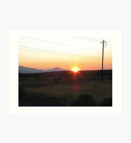 Sunset Over Mt. Washington Art Print