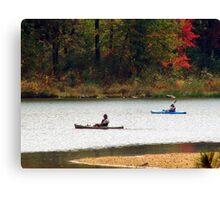 Kayaking on the Lake Canvas Print