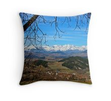 French Alps Heaven Throw Pillow