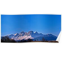 French Alps Panorama II Poster