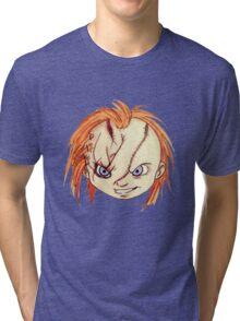 Chucky/ Child's Play Tri-blend T-Shirt