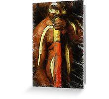 Didgeridoo Player Greeting Card
