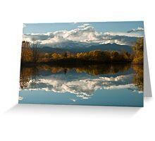 Reflections of Longs Peak, Colorado Greeting Card