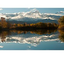 Reflections of Longs Peak, Colorado Photographic Print