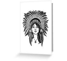 Native American Beauty Greeting Card