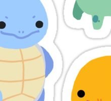 Kanto Starter Sticker Sheet Sticker