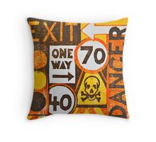 Sign Board Throw Pillow