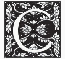 William Morris  Letter C Sticker by Donna Huntriss