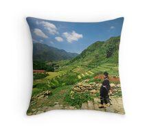 Sapa Countryside Throw Pillow
