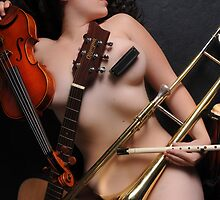 The Nude Musician  by Kelli Lynn  Sage