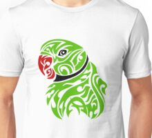 Green ringneck parrot tattoo Unisex T-Shirt