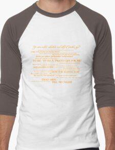 Dress Up, Me Hearties, Yo Ho! (White/Orange) Men's Baseball ¾ T-Shirt