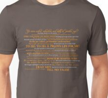 Dress Up, Me Hearties, Yo Ho! (White/Orange) Unisex T-Shirt