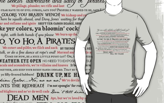 Dress Up, Me Hearties, Yo Ho! (Black/Red) by actualchad