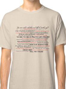 Dress Up, Me Hearties, Yo Ho! (Black/Red) Classic T-Shirt
