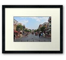 Main Street USA Disneyland Framed Print