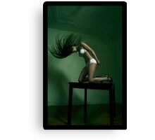Fahima on table #3 Canvas Print