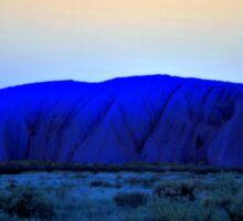 Blue Uluru Sticker