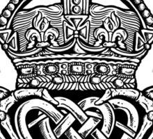 Skeleton Claddagh Black and White Sticker