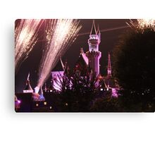 Disneyland Castle and Fireworks Canvas Print