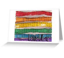 #Love Wins Greeting Card