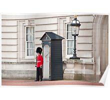 The Lone Sentry: Buckingham Palace, London, UK. Poster