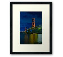 Golden Gate Night Framed Print