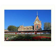 Disneyland Main Street Train Station Art Print