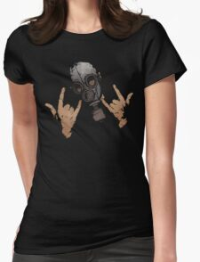 Devil Horns (Colour Version) Womens Fitted T-Shirt