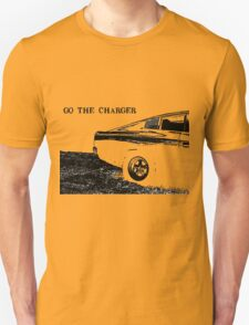 Valiant Charger Australian Muscle Car rear view, GO THE CHARGER black T-Shirt