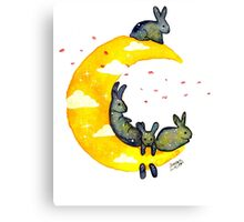 Hanging on the Moon Canvas Print