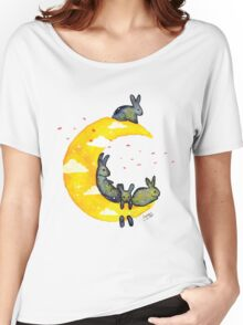 Hanging on the Moon Women's Relaxed Fit T-Shirt
