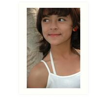 little girl with nice and cute face Art Print