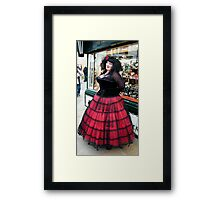 The Goth Weekend at Whitby, Oct 2010. 7 Framed Print