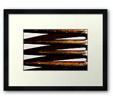 Prongs of an old fork Framed Print