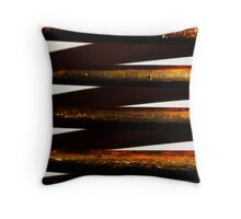 Prongs of an old fork Throw Pillow