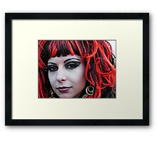 The Goth Weekend at Whitby, Oct 2010. 8 Framed Print