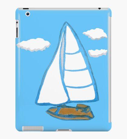 Sailboat Printmaking Art iPad Case/Skin