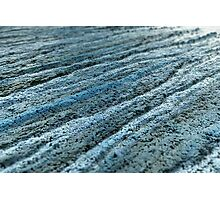 Furrows in the Blue Sand Photographic Print