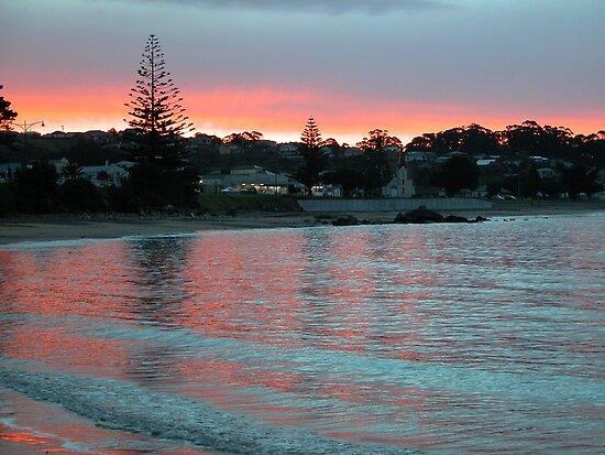 Evening at the Beach, Penguin, Tasmania, Australia. by kaysharp