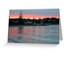Evening at the Beach, Penguin, Tasmania, Australia. Greeting Card