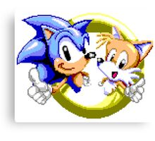 Sonic the Hedgehog - SEGA Genesis Sprite Canvas Print