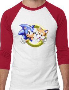 Sonic the Hedgehog - SEGA Genesis Sprite Men's Baseball ¾ T-Shirt